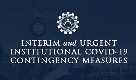 Interim and urgent institutional CoViD-19 contingency measures